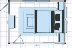 bed in a small bedroom help rh houzz com 9x12 room square feet 9x12 room is what sq ft