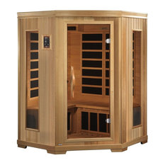 Far-Infrared Carbon Corner Sauna With Chromotherapy, 3-Person