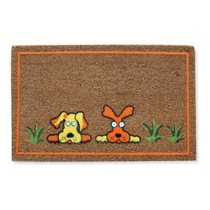 First Impression Layla Coir Entry Doormat Contemporary