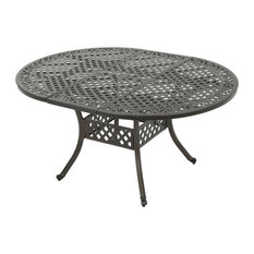 GDF Studio Clarisse Extendable Outdoor Aluminum Dining Table