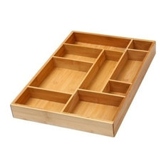 Bamboo Utility Drawer Organizer for Kitchen, Bathroom, office And Cosmetics