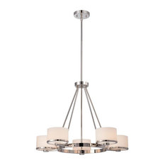 Celine 5 Light Chandelier With Etched Opal Glass