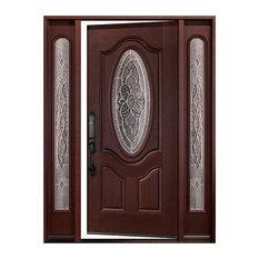 "Front Entry Door Right-Hand Swinging Single Door With Sidelight, 12x36x80"""