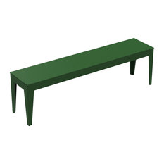 Zef Dining Bench, Steel, Jungle Green