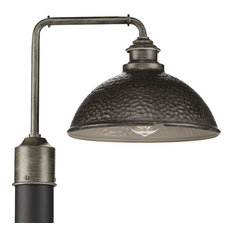 Englewood Collection 1-Light Post Lantern, Antique Pewter