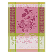 Traditional Kitchen Towels, Set of 4, Rose
