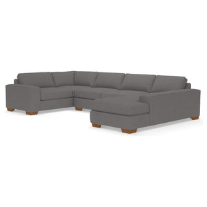 Melrose 3-Piece Sectional, Ash, Chaise on Right