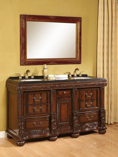 Avola 60 inch Antique Bathroom Vanities - Bathroom Vanities And Sink  Consoles - Antique Bathroom Vanities