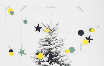 Ikke plads til et grantræ? 3 alternative DIY-juletræer til væggen