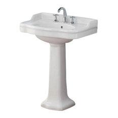 "Cheviot Products Antique Pedestal Sink, 22.5"", 4"""