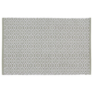 Handwoven Olive Green Rombini Cotton Rug, 60x90 cm