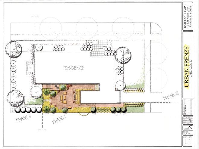 Modern Site And Landscape Plan by K&D Landscape Management