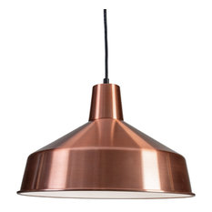 "120V Commercial Grade Vintage Barn Hanging Pendant - 12"" Diameter, Copper"