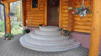 Halbrunde Außentreppe – die eleganteste aller Formen.