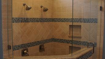 Frameless 3/8'' Custom-Angled Shower Enclosure