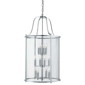 Victorian Lantern 12-Light Chrome With Clear Glass