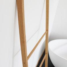 Handtuchleiter Eiche moderne handtuchständer handtuchleiter handtuchhalter houzz