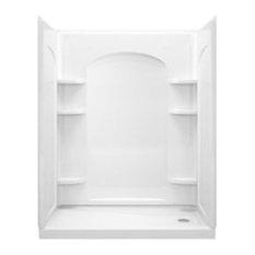 """Sterling  Ensemble 72.5""""x32""""x60"""" Vikrell Alcove Shower Kit, White"""