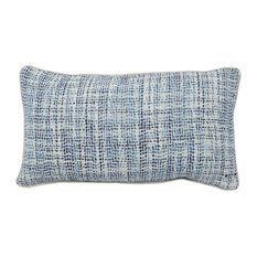 "Baxter Woven 14""x26"" Throw Pillow, Blue by Kosas Home"