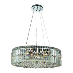 Maxime 12 Light Chandelier in Chrome with Clear Royal Cut Crystal