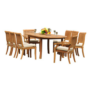 Cool Deandra 5 Piece Outdoor Wood Dining With Cushions Set Machost Co Dining Chair Design Ideas Machostcouk