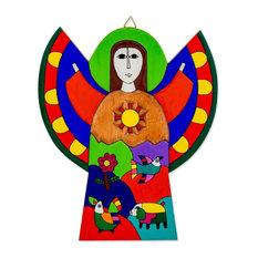 Angel of Hope Pinewood Wall Art, El Salvador