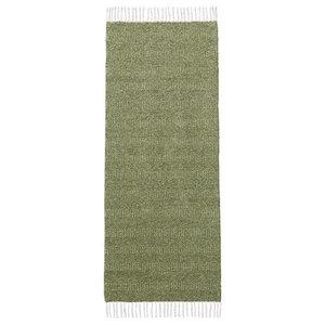 Maja Olive Green Vinyl Floor Cloth, 150x250 cm