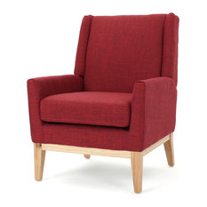 GDF Studio Maeve Red Fabric Accent Chair