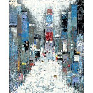 """Times Square"" Printed Canvas by Lee Mccarthy, 50x40 cm"