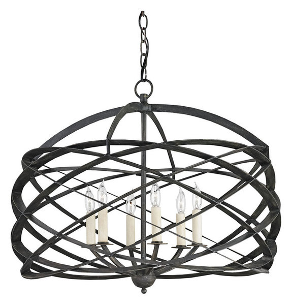 Currey company horatio black iron chandelier 9729 industrial currey company horatio black iron chandelier 9729 aloadofball Image collections