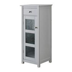 Ard White Wood & Glass Contemporary Etagere Bathroom Organizer