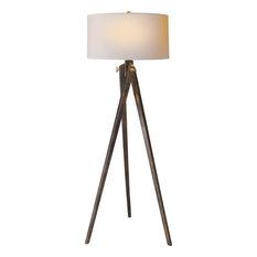 Turned Wood Floor Lamp | Houzz