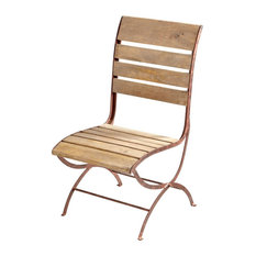 "Cyan Lighting 42"" Victorian Chair, Dark Rust/Light French Grey Finish"