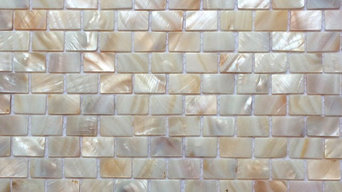 """12""""x12"""" Natural Varied Mother of Pearl Minibrick Tile, Polished, Single Sheet"""