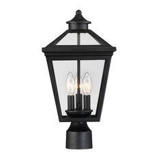 Ellijay Outdoor Post Lantern, Black