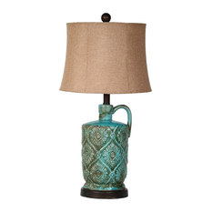 privilege privilege green ceramic table lamp table lamps
