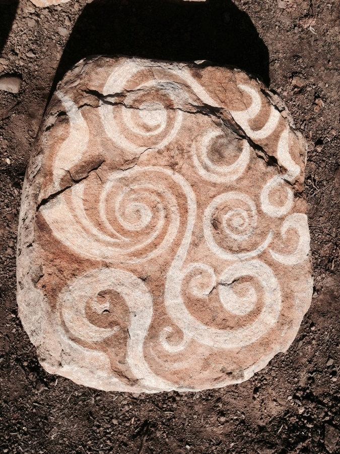 Stone Landscape feature- Boulder Carving in progress