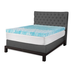 "SensorPEDIC 4"" Gel Swirl Memory Foam Mattress Topper, Queen"