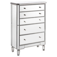 Chamberlan Clear Mirror 5 Drawer Cabinet