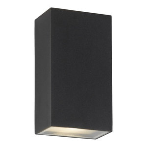 Outdoor Up and Down LED Rectangle Wall Light, Black