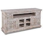 keystone carved tv stand white