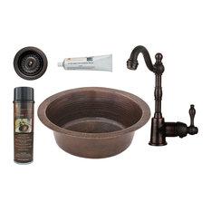 """14"""" Round Hammered Copper Bar/Prep Sink"""