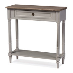 Baxton Studio White Wash Distressed Two-tone 1-drawer Console Table