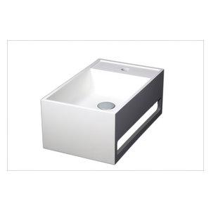 Ravello Bathroom Vessel Sink With Towel Rail, 50 cm