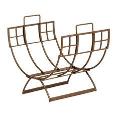 ACHLA Designs   Roman Log Holder, Bronze Finish   Firewood Racks