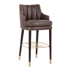 Superb Dark Brown Bar Stools Counter Stools Houzz Uwap Interior Chair Design Uwaporg