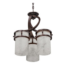 Luxury Rustic Bronze and Onyx Chandelier, UQL2412, Montevideo Collection