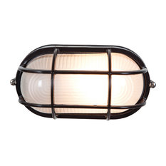 Nauticus, 20292, Wet Location Bulkhead, Black/Frosted, Incandescent