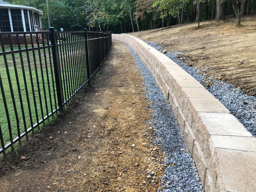 Baneberry Retaining wall