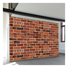 """Red Brick Wall Mural, 4-Panel, 100""""W"""
